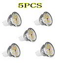 LeXing 5Pcs GU10 5W 36x2835SMD 350LM 2700-3200K Warm White Light LED Spot Bulb (90-240V)