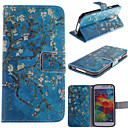 Apricot Blossom Design  PU Leather Full Body Protective Case with Stand for Samsung S5 Mini G800