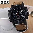 Men's Fashion Big Dial Calendar Quartz Analog Leather Band Sports Watch(Assorted Colors)