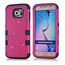 Buy 2015 New 3 1 Combo Hybrid Case Glitter/bling Studded Diamond Dual Layer Pc&silicone Protective Samsung S6