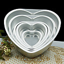 Buy 5 inch Metal Love Heart Shape Cake Mold Detachable Live Bottom Pastry Mould