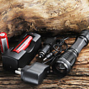 CREE XM-L T6 1800 Lumens Focus Adjustable Torch Zoomable LED Flashlight + 18650 Battery + AC/Car Charger