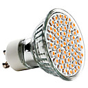 Spot LED Blanc Chaud MR16 GU10 3W 60 SMD 3528 240 LM AC 100-240 V