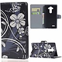 vackra blommor plånbok pu läderfodral med stativ och kortplatser för lg Leon 4g lte h340n