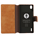 Buy Huawei Case Wallet / Card Holder Stand Flip Full Body Solid Color Hard PU Leather P7