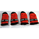 Socks & Boots for Dogs Red / Black Spring/Fall XXS / XS / S / M / L / XL Nylon / PU Leather / Polar Fleece
