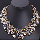 Buy MPL Retro luxury full diamond crystal gem flower short chain clavicleImitation Diamond Birthstone
