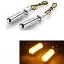 Motorcycle Motorbike Yellow LED Turn Signal Light Bulb Indicator 12V (2 Pcs)