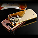 DUBAI® Luxury Super Thin Shine Acrylic Mirror Cover Back Plating Metal Frame Full Body Case for Samsung Galaxy S4/I9500