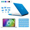 ENKAY 4 in 1 Matte Hard Protective Case + Screen Protector + Keyboard Film + Anti-dust Plugs for MacBook Pro 15.4 inch