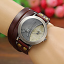 Women'S Watches Vintage Digital Eiffel Tower Leather Quartz Bracelets Watches