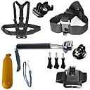 6-in-1 Gopro Accessory kit for Gopro hero4/3+/3/2/1 Sj4000 SjCAM Sj5000