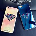 diamants de luxe de lumière bleu coloré réfléchissant blu-ray douce couverture de cas de TPU pour iphone 6 / 6s
