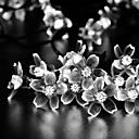 zonne 7m 50LED mooie plastic bloem lichtslingers waterdicht lichten