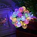 6.5M 30LED bubbla form sol sträng lampor fina bröllops lampor jul dekoration lampor