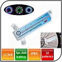 פנסי אופניים , אורות גלגל - 3 מצב 100 Lumens עמיד למים AAA x 3pcs סוללה אופנייים/םרכיבה על אופניים / דיג כחול אופניים XIE SHENG YG-154