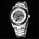 Buy Men's Business Full Automatic Round Dial Stainless Steel Band Machine Analog Hollow Wrist Watch(Assorted Color) Cool Watch Unique