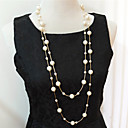Buy Necklace Strands Necklaces / Layered Pearl Jewelry Wedding Party Daily Casual Imitation PearlGold