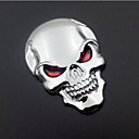 Buy Motorcycle Car Auto Logo 3D Metal Emblem Badge Decal Skeleton Skull Bone Sticker