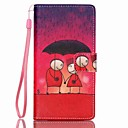 Buy EFORCASE® Sunset Red Painted Lanyard PU Phone Case Huawei P8lite