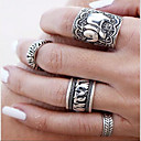Retro Carved Elephant Alloy  Statement Rings Daily / Casual 1pc