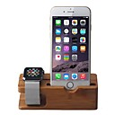 Apple Watch iPhone Bamboo Stand Charging Dock Station Bracket Cradle Holder Apple Watch iWatch