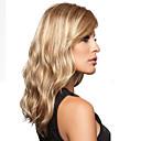 Buy Blonde Long Natural Curly Hair Synthetic Wig Side Bang