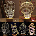3D Skull Cartoon Model Creative Atmosphere USB Mood LED Decoration Table Lamp Warm White Night Light
