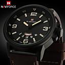 Buy Brand Fashion Men Sports Watches Men's Quartz Hour Date Clock Man Leather Strap Military Army Waterproof Wrist Watch Cool Unique