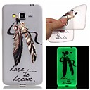 Buy Samsung Galaxy Case Glow Dark / Pattern Back Cover Feathers TPU SamsungJ3 J1 Ace Grand Prime Neo Core