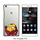 MAYCARI®The Crowded Subway Soft Transparent TPU Back Case for Huawei P7/P8