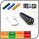 LED Flashlights - 3 Mode 300 Lumens Waterproof / Rechargeable / Mobile Power Supply / Easy to Carry 18650 x 1USB