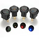 Buy Iztoss 16A 12V Round LED Rocker Indicator Toggle Switch 3 Pin On-Off SPST switch Car Boat Truck Trailer