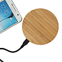 Wooden Qi Wireless Charger USB Charging Pad Support for Samsung / LG