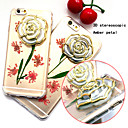 Buy 3D New Embedded Herbarium Real Flowers Roses Green Pattern TPU Material Phone Case iPhone 6 / 6S