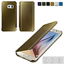 Luxury Clear View Mirror Flip Electroplating Phone Cases for Samsung Galaxy  S6/S6 Edge/S6 Edge +/S7/S7 Edge/S7 Edge +