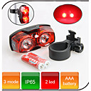 Rear Bike Light / Safety Lights Bike Warning Light 3 Mode 80 Lumens Waterproof AAA Battery Cycling/