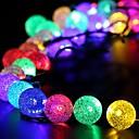 konge ro 40led krystalkugle batteri string lys til udendørs, haver, hjem, bryllup, julefrokost, vandtæt