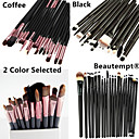 20pcs Goat/Pony/Horse hair Makeup Brushes set Professional   blush brush shadow/eyeliner/eyelash/brow/lip brush cosmetic brush kit makeup tool