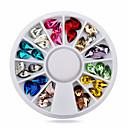 Buy Fashion Glitter Nail Art Rhinestones Mix Colors Acrylic UV Gel Tips Gems Decoration