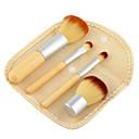 Buy Natural Bamboo Handle Makeup Brushes Set Mini linen bag