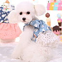 Buy Cute Dog Puppy Denim Bow Lace Dress Cat Pet Skirt Princess Summer Cowboy Costume Clothes