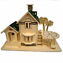 Buy Jigsaw Puzzles 3D / Wooden Building Blocks DIY Toys House Wood Beige Model & Toy