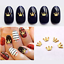 Buy 5New Gold Metal Charm Crown Design Nail Art Studs DIY 3d Jewelry Accessories Beauty Decoations