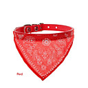 Totem Design Adjustable Dog Collar Dog Bandanas Triangle Scarf for Cats Pets