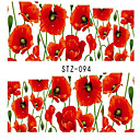 Buy 4sheets Hot Flower Nail Art Stickers Water Transfer Decals Wraps Beauty Charm Foils Full Cover Temporary Tattoos Tools