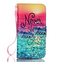 Buy iPhone 5 Case Wallet / Stand Flip Full Body Word Phrase Hard PU Leather SE/5s/5