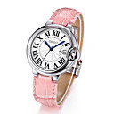 WEIQIN ® 50m Waterproof Silver Case Genuine Leather Strap Watches Women Lady Fashion Dress Wrist Watch Hours Clock Cool Watches Unique Watches