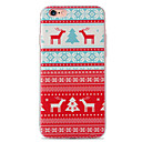 Soft TPU Case With 3D Printing Pattern For iPhone 6/ iPhone 6s/ iPhone 6 plus/ iPhone 6s plus Snow Red