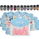 Buy 1set Includ 12 colors Paper Card Nail Art Glitter Beautiful Geometric Shape Like Shell Stickers Decoration